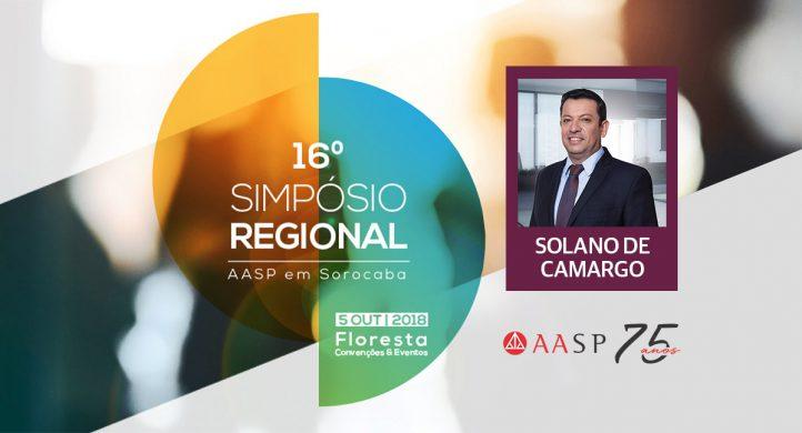 Solano de Camargo faz palestra sobre LGPD em evento da AASP