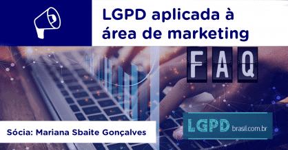 LGPD aplicada à área de marketing