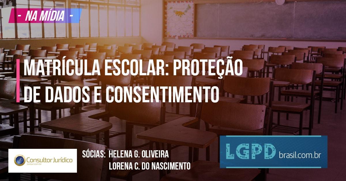 Matrícula escolar: proteção de dados e consentimento